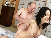 Misa Arisawa doll gets pussy fingered while the old man jerks off