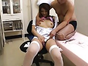 Japanese AV Model has cunt strongly stimulated with electric toy