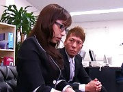 Mika Kayama Office girl has a meeting with boss to see her ass