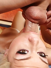 This slut gets properly fucked down the throat