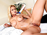 Amazing hot ass big tits blonde vivien gets her juicy box dildo fucked hard after masterbating in these hot solo fuck vids
