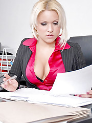 Hot big titstamara calls her employees to the office for some after hour sex
