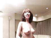 Japanese AV Model gets pussy rubbed with pink rope with knurls