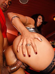 This hot lating big booty girl gets pickt up at a bar after drinks and gouse home to get fuckt watch her take it in th ecake