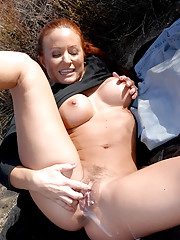 Amazing big tits hot hairy bush cowgirl saves a hanging man then get her hot bush fucked and ass rammed in these hot cowboy cowgirl bush fucking pics and big video update