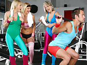 Hot milf kimberly and her milf babes tease and flirt with the gym instructor and get him to train naked then fuck one of the milfs in these hot flirting box bangin vids