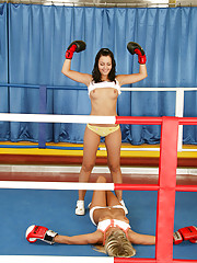 Boxing lesbians enjoy pleasuring each other
