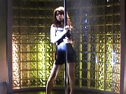 Risa Kasumi Asian has slit licked after she did bar strip tease