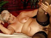 Chubby granny fucking on the side