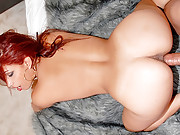 Super hot latina red head nailed hard by car mechanic super hot screaming movie and pics
