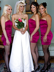 Cherry Torn gets hijacked by her bridesmaids bound, ripped from her wedding dress humiliated, punished and double penetrated and left in a pile of cum