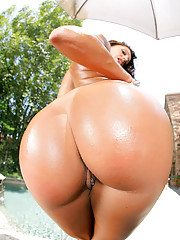 Francesca le gets her porn star box stuffed in this pool side hard fuck pic set