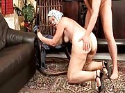 Horny granny humped from behind