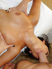 Teen slut gets a massage with a happy ending