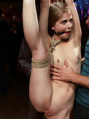 Super slut Sensi Pearl is fucked in front of a live audience at the armory!