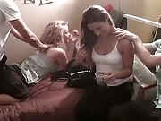 Hot college teens get fucked in this real amateur dorm room 3some hot sex party vids