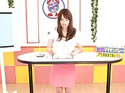 Miku Ohashi Asian has her  pussy touched when she presents news