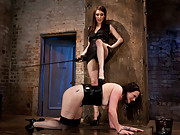 Maitresse Madeline, Princess Donna, and The Pope take turns putting dolly through their versions of hell!