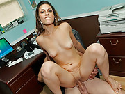 Lizette hole in one sexy latina girl swallows fat cock and gets banged at work