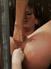 Two fucking machines, two holes, one girl.  Hard metal device bondage.  Ariel X is DP and made to cum over and over from the amazing fucking.