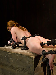 Redhead Marie bound in metal, made to cum. Finger fucked, machine fucked, extreme nipple play, hot wax, hard caning. She marks as well as she cums.