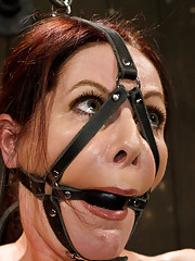 50 yr old cougar experiences bondage/BDSM for the first time. She is made to cum in intense positions to be beat and vibed into submission.