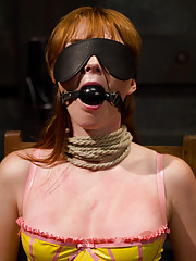 Adorable redhead takes lesbian punishment and kinky sex while having her milk filled titties milked dry by Isis Love.