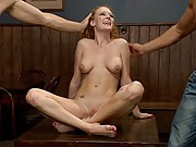 Audrey Hollander in double anal rough sex action!