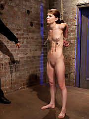 Hot contortionist girl-next-door Sensi Pearl bound tightly and suspended, then made to cum by sexy big-titted Isis Love