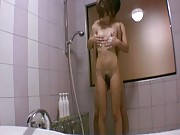 Kirara Asuka Asian has boobs soaped by dude before taking shower