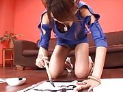 Rukia Mochizuki in such sexy blue dress shows what she wants