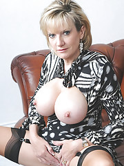 Huge tits nylons mature leggy wife