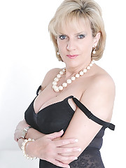 Classic sexy black lingerie mature