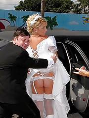 Hot bride fucked in limo by grooms maid real hot amateur sex party