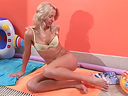 Very cute blonde boned hard in a public pool