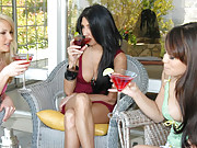 These 3 milf start on martinis and then move to sucking on clits in these hot movies