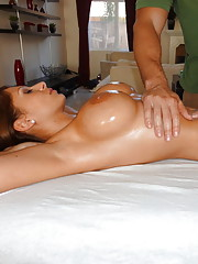 A slick guy tricks a slut into fucking her hard