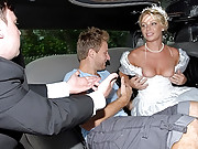 Hot blond milf wife gets banged inside limo by the hunter big tits big ass
