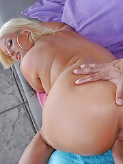 Julie cash nailed hard in her tight fucking ass pool side cumfaced screaming sex