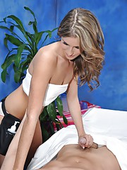 Naughty girl Kara fucks her massage client after a rub down!