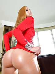 Fucking hot ass rachel gets her red mini skirt tube dress ass power fucked cumfaced