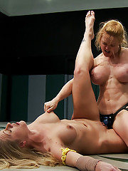 2 hot blond fitness models battle it out, in a hardcore, sexual, non-scripted, submission wrestling match!  Loser gets brutally fucked by the winner!