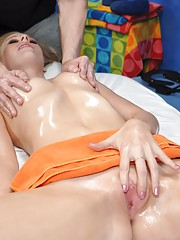 Avril seduced and fucked hard by her massage therapist