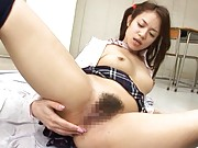 Shelly Fujii Asian teases her ass hole and takes dick in mouth