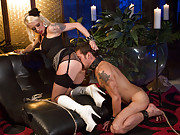 Devastatingly sexy dominatrix teases and denies slaveboy so intensely he wishes he may wish he never revealed his deep obsession for his mistress