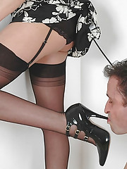 Blowjob british mature dominatrix