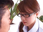 Akiho Yoshizawa gets horny touching man she has to massage