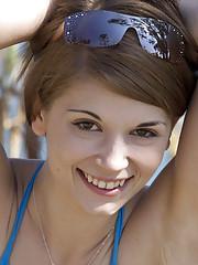 Sensi takes off her bikini swimwear