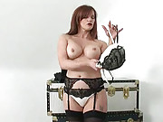 Mature nylons secretary masturbates