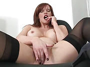 Redhead mature secretary holly kiss